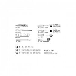 Coffret d'outils mixtes 197 Pièces – KRAFTWERK 1047