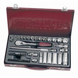 """Coffret de douilles, cliquet et accessoires 50 outils 3/8"""" KRAFTWERK"""