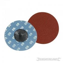 Kit 5 disques abrasifs à changement rapide 75 mm