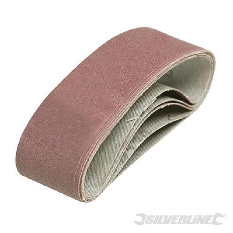 Lot de 5 bandes abrasives 40 x 305 mm