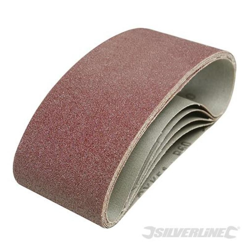Lot de 5 bandes abrasives 75 x 457 mm