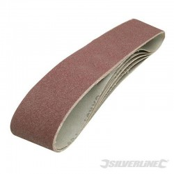Lot de 5 bandes abrasives 100 x 915 mm