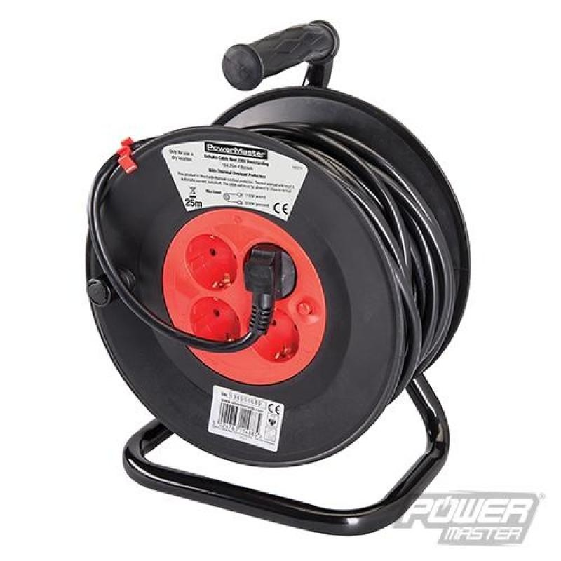 Enrouleur de câble électrique avec prises Schuko UE 240 V