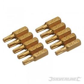 10 embouts dorés T20 T20