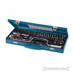 Coffret de 42 clés/douilles 1/2 pouce métriques et AF