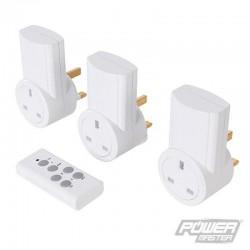 Lot de 3 prises électriques télécommandées 240 V