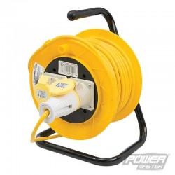 Enrouleur de câble sur pied  2 prises 110 V