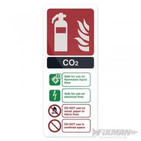 Pancarte Extincteur au CO2...