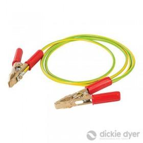 Câble avec pinces pour mise...