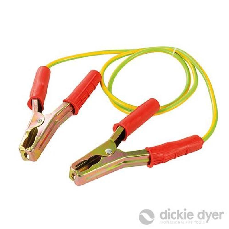 Câble avec pinces pour mise à la terre temporaire 1,2 m / 25 mm