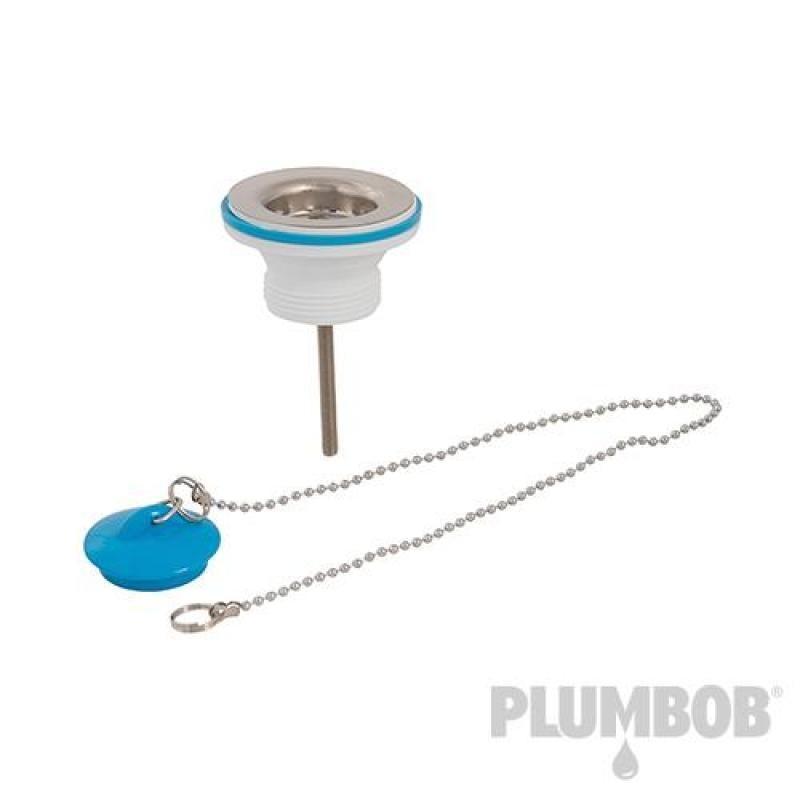 Bonde d'évier avec bouchon et chaînette 32 mm