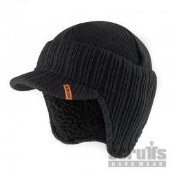 Bonnet noir à visière Taille unique