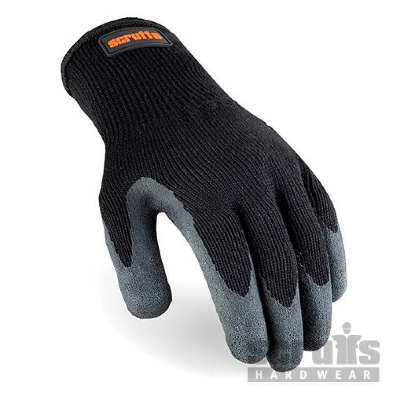 Gants noirs à revêtement latex L